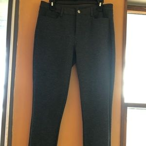 Michael Kors Grey Pants with stretch & Silver Logo
